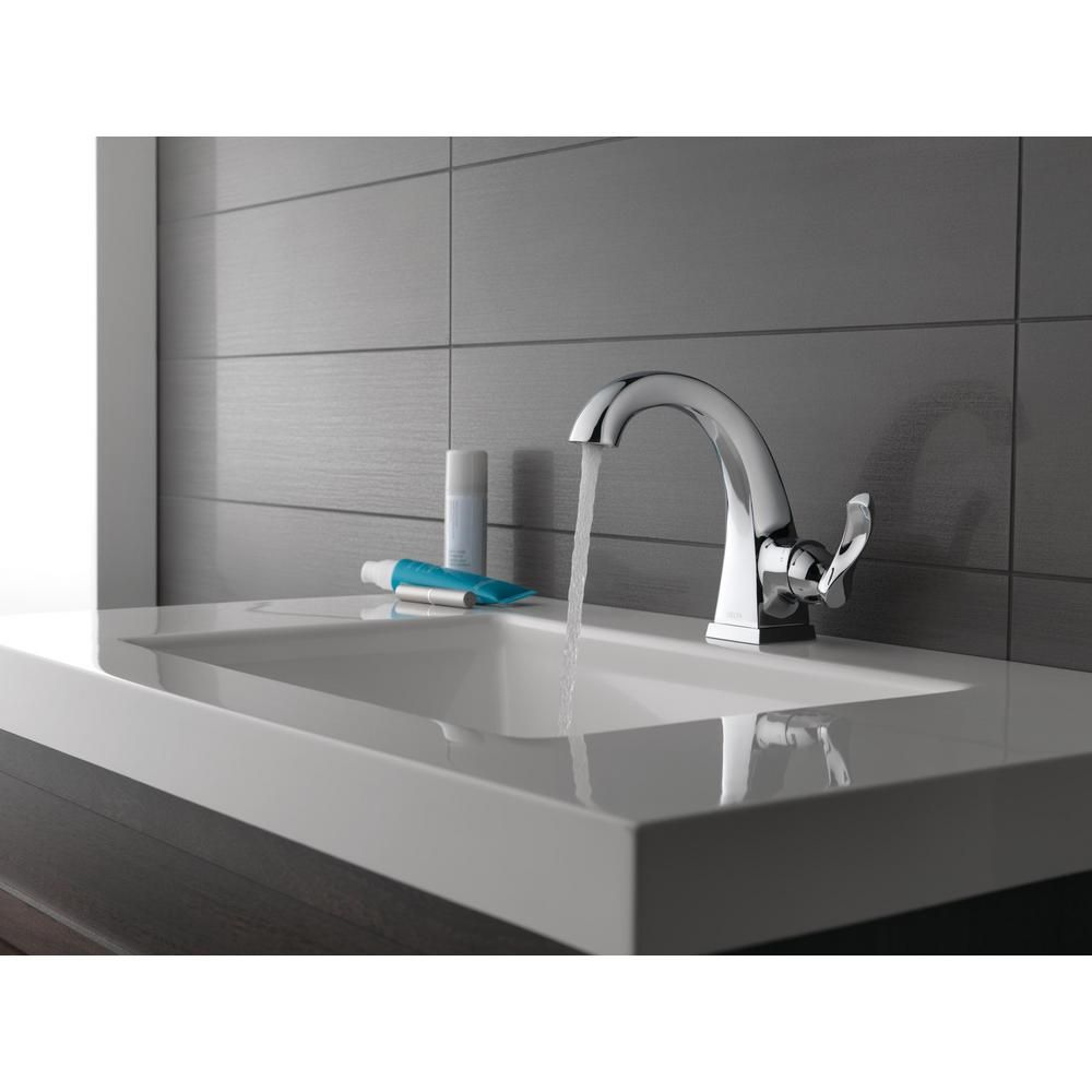 Delta Everly Single Hole Single Handle Bathroom Faucet In Chrome 15741lf The Home Depot Single Handle Bathroom Faucet Single Hole Bathroom Faucet Bathroom Faucets [ 1000 x 1000 Pixel ]