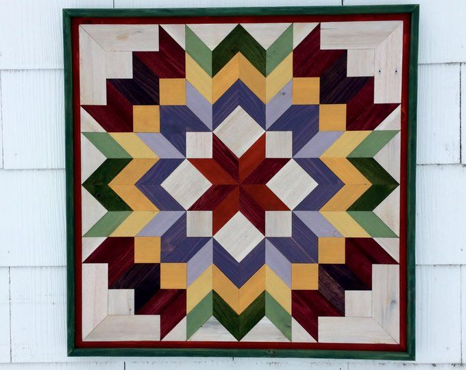 Pallet Wood Mosaic Barn Quilt Handmade Primitive Rustic