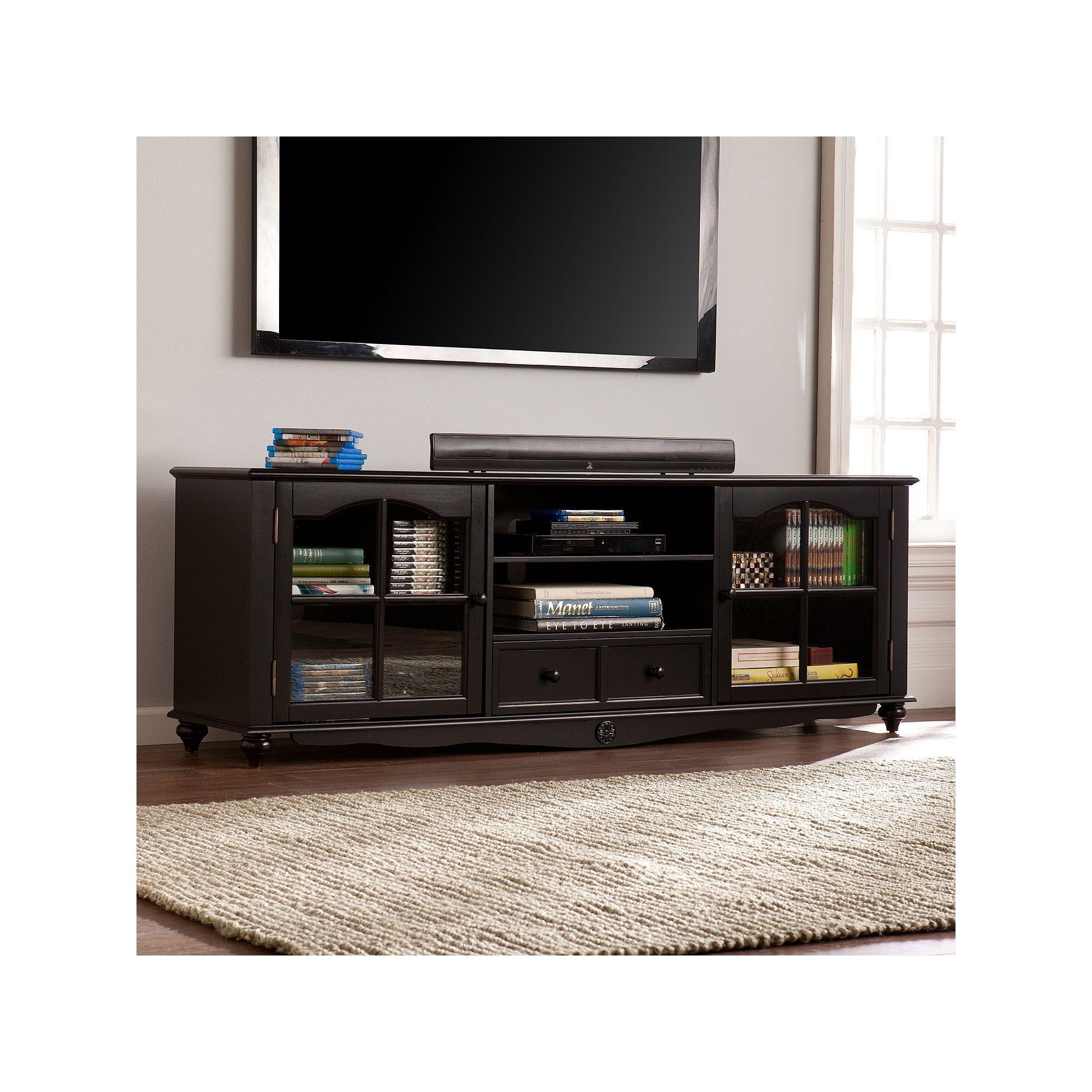 Furniture of America Sloan Industrial 70-inch Wood TV Stand in Vintage Walnut