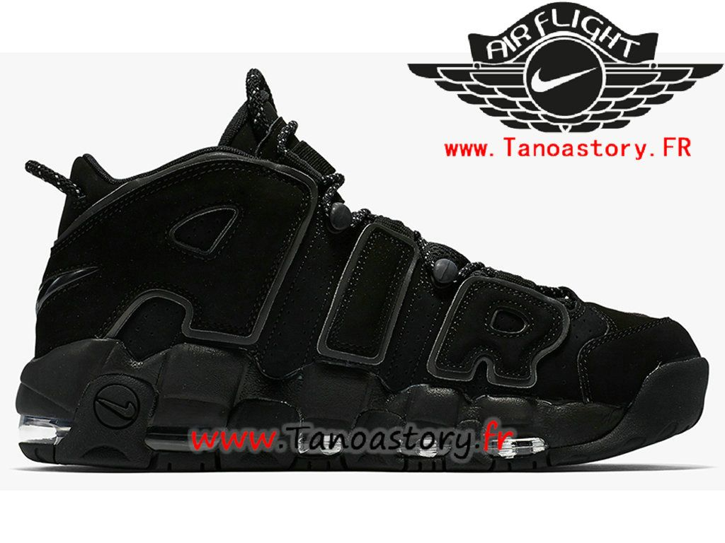 best website 437f1 8374f Chaussures Homme Nike Air More Uptempo 414962-004 BasketBall Pas Cher Noir- 414962-