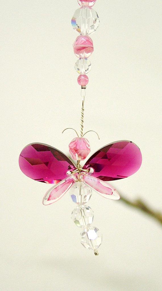 Gift for mom dragonfly suncatcher swarovski crystal for Baby jewelry near me