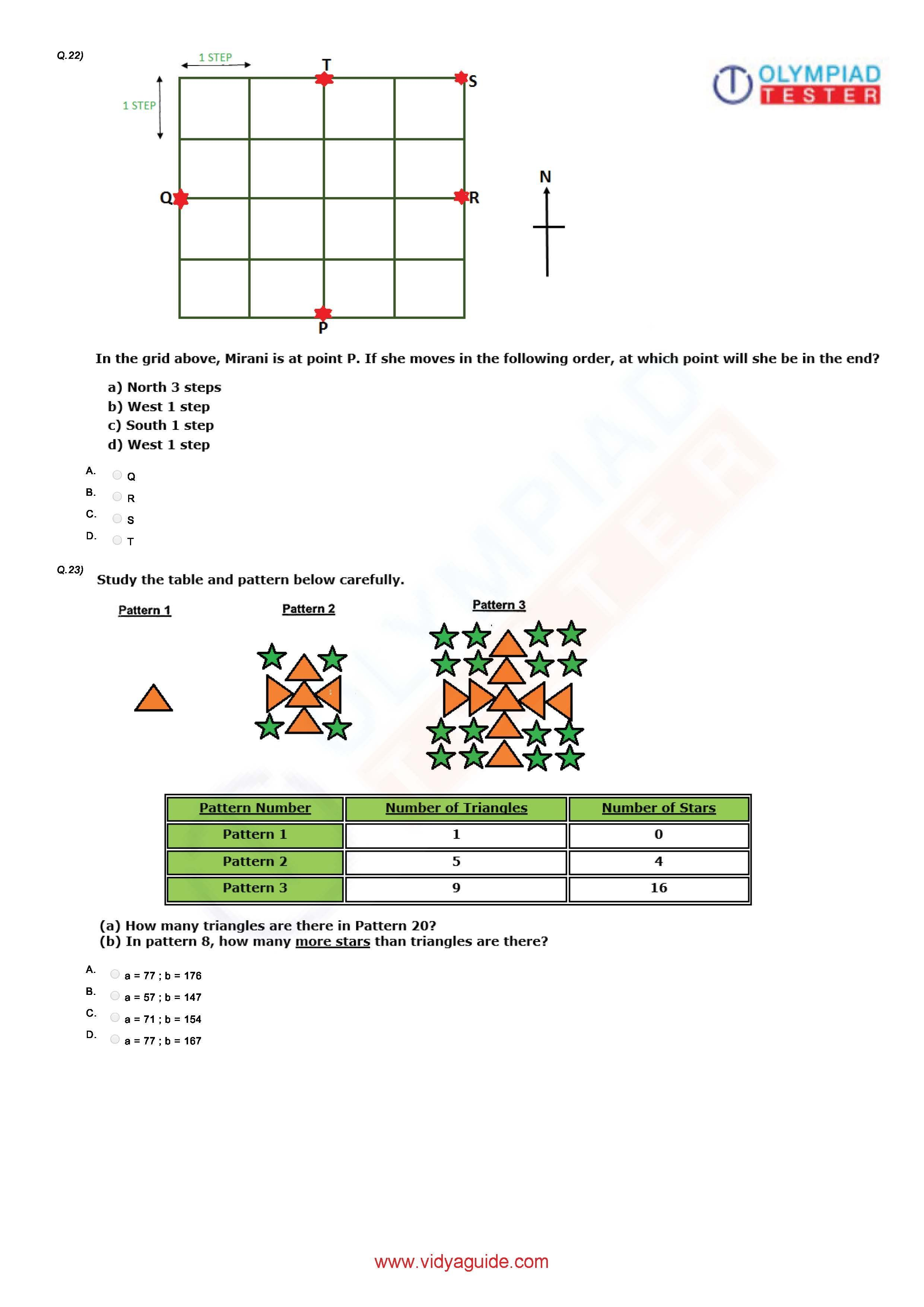 Download Printable Grade 5 Maths Worksheets Or Take These Tests Online At Vidyaguide Math Olympiad Math Sample Question Paper