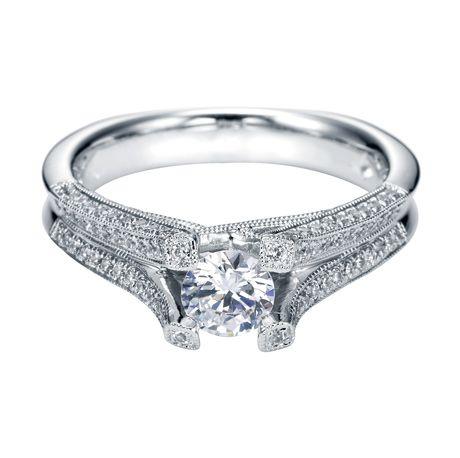 Platinum Victorian Split Shank Engagement Ring    Style ER4142PT4JJ