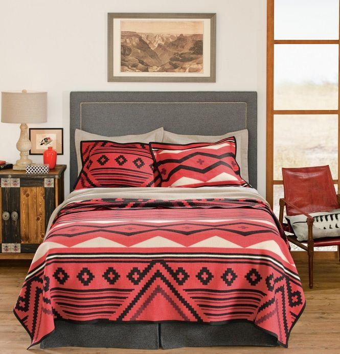 bed bedding pendleton decor home sets