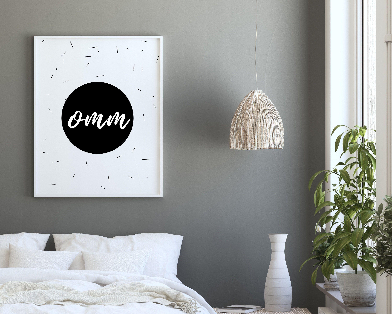 Omm Word Art Zen Decor Spiritual Printable Yoga Wall   Etsy