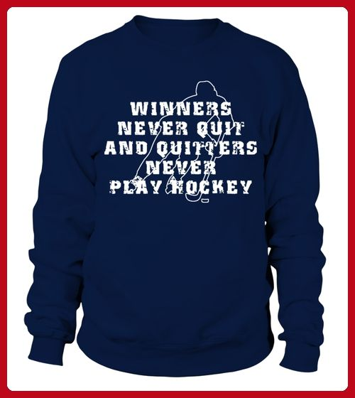 Hockey Winners Never Quit T Shirt Hockey Shirts Partner Link