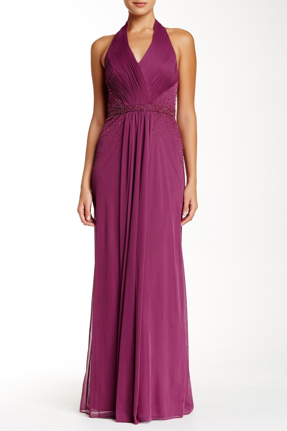 JS Boutique - Shirred Halter Gown at Nordstrom Rack. Free Shipping ...
