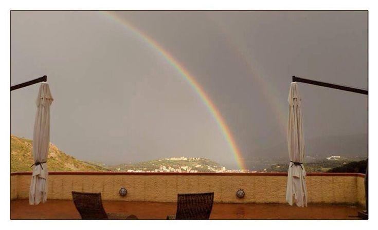 Rainbow - view - panorama - scenery - colors - mandolaia
