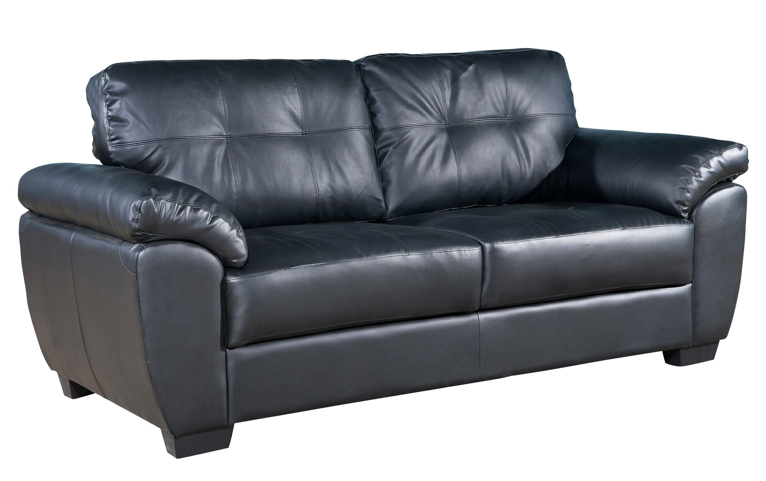 Wondrous Brisbane Premium Bonded Leather 3 Seater Sofa Black 329 Andrewgaddart Wooden Chair Designs For Living Room Andrewgaddartcom