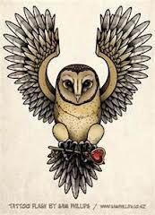 Old School Owl Owl Owl Owl Owl Tattoo Design Tattoos és Tattoo