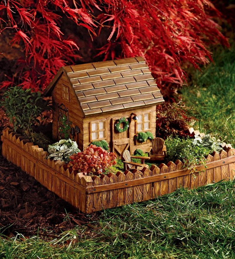 Solar Garden Shed Planter Lights Up At Night As If The Fairies Have Come  Home.