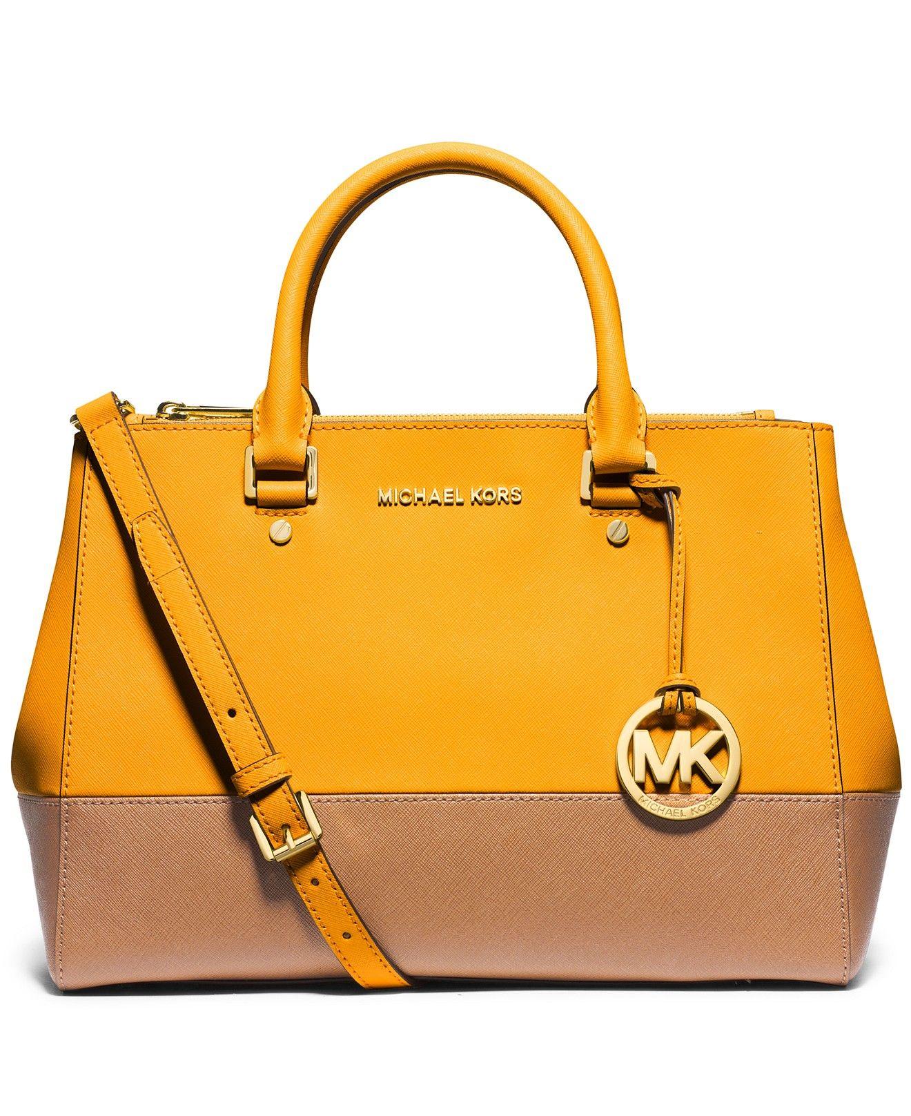 Michael Kors Sutton Medium Colorblock Satchel Handbags Bag Accessories Macys