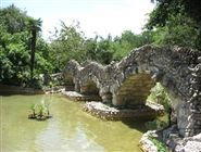 Japanese Tea Gardens dans Brackenridge Park, Texas