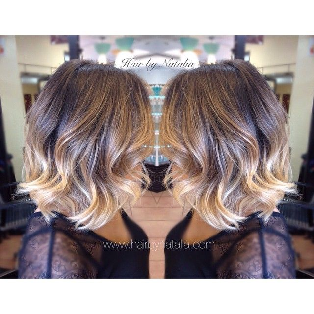 Balayage short hair balayage ombr sombre on short hair - Ombre et hair ...