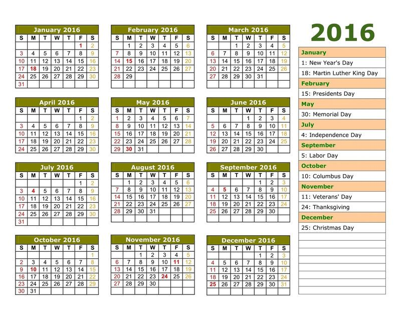 2016 Calendar Printable 1 Also See The Category To Find Read