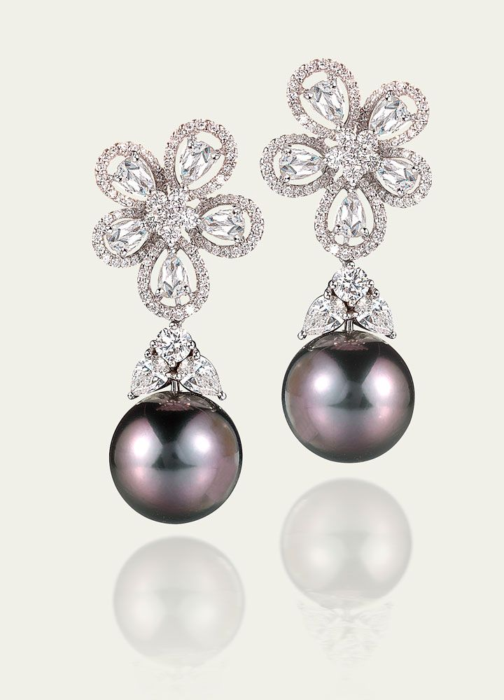Earrings Tamsen Z Tahitian Pearl Amp Diamond Earrings