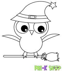 Click through for cute printable Halloween coloring pages