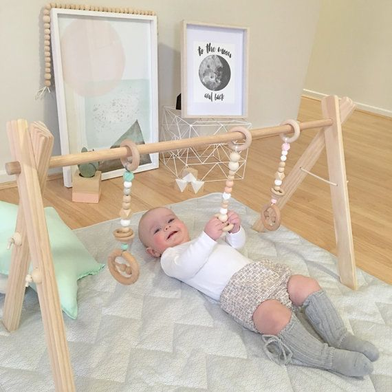 Simply Scandi Baby Gym And Set Of 3 Baby Gym PlayGym Timber Wooden BabyGym  Toys Play Gym Package