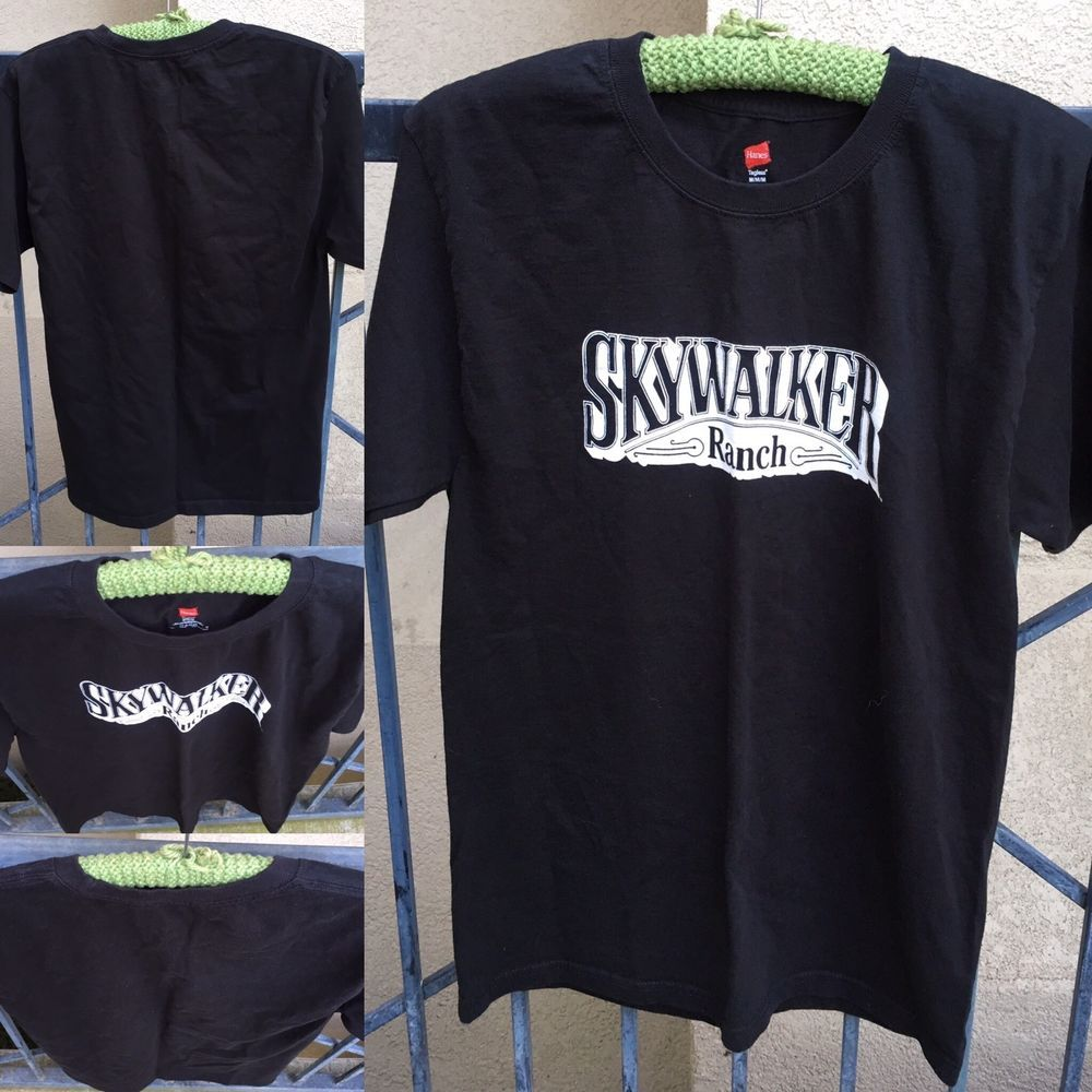 T shirt white ebay - Skywalker Ranch T Shirt Black With White Size M Ebay
