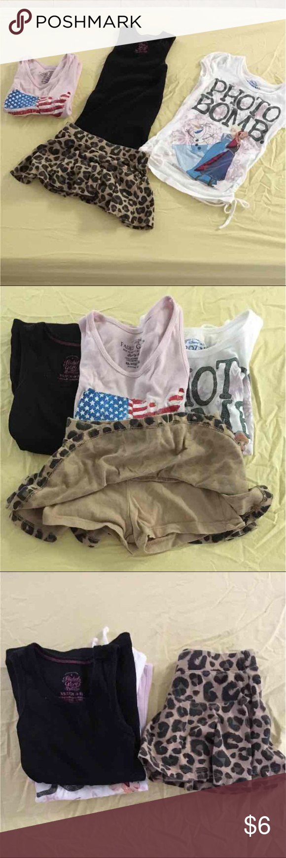 Size 4t/4s girls Size 4 girl bundle.   The leopard skirt is a size 4t All other shirts are 4s   As always from a smoke and pet free home. Matching Sets