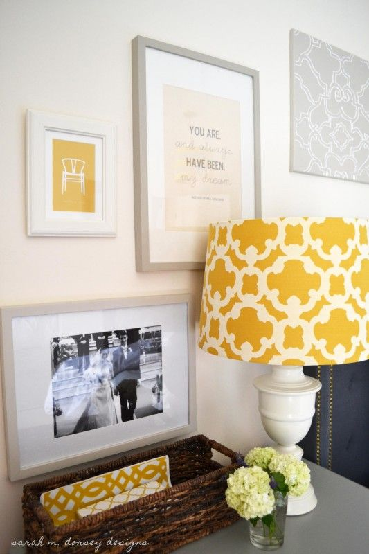 Gray  yellow bedroom the house that case and vrish built pinterest grey bedrooms also rh