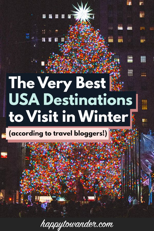 Most Popular Us Destination For Christmas 2020 The BEST Winter Destinations in the USA in 2020 | Usa travel