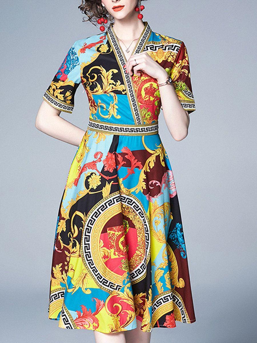 567579330b8 Stylewe Casual Dresses Wrap Dresses Work A-Line Surplice Neck Short Sleeve  Elegant Wrap Dresses