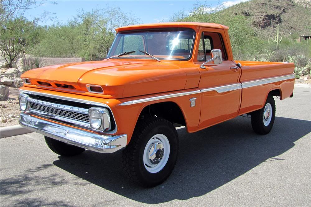 1964 Chevy Pickup Green Stepside Just Like My Grandpappys