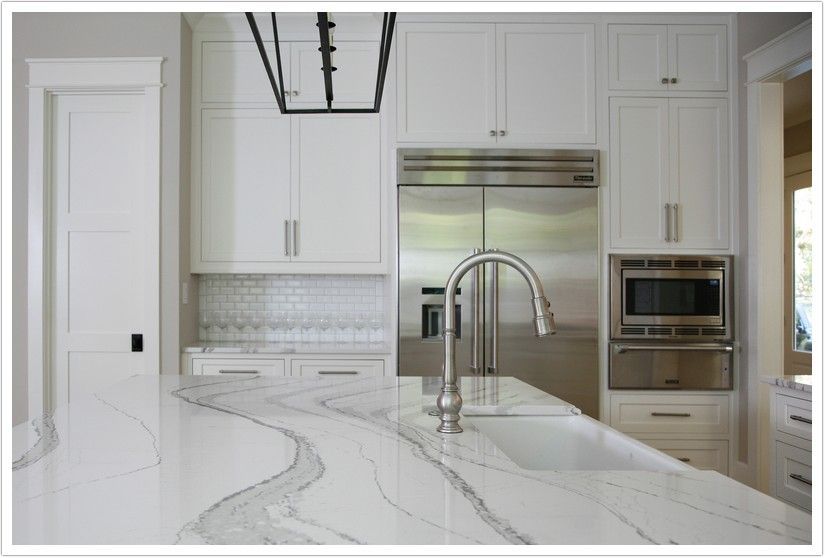 Brittanicca Quartz By Cambria Is Made Up Of A White Base