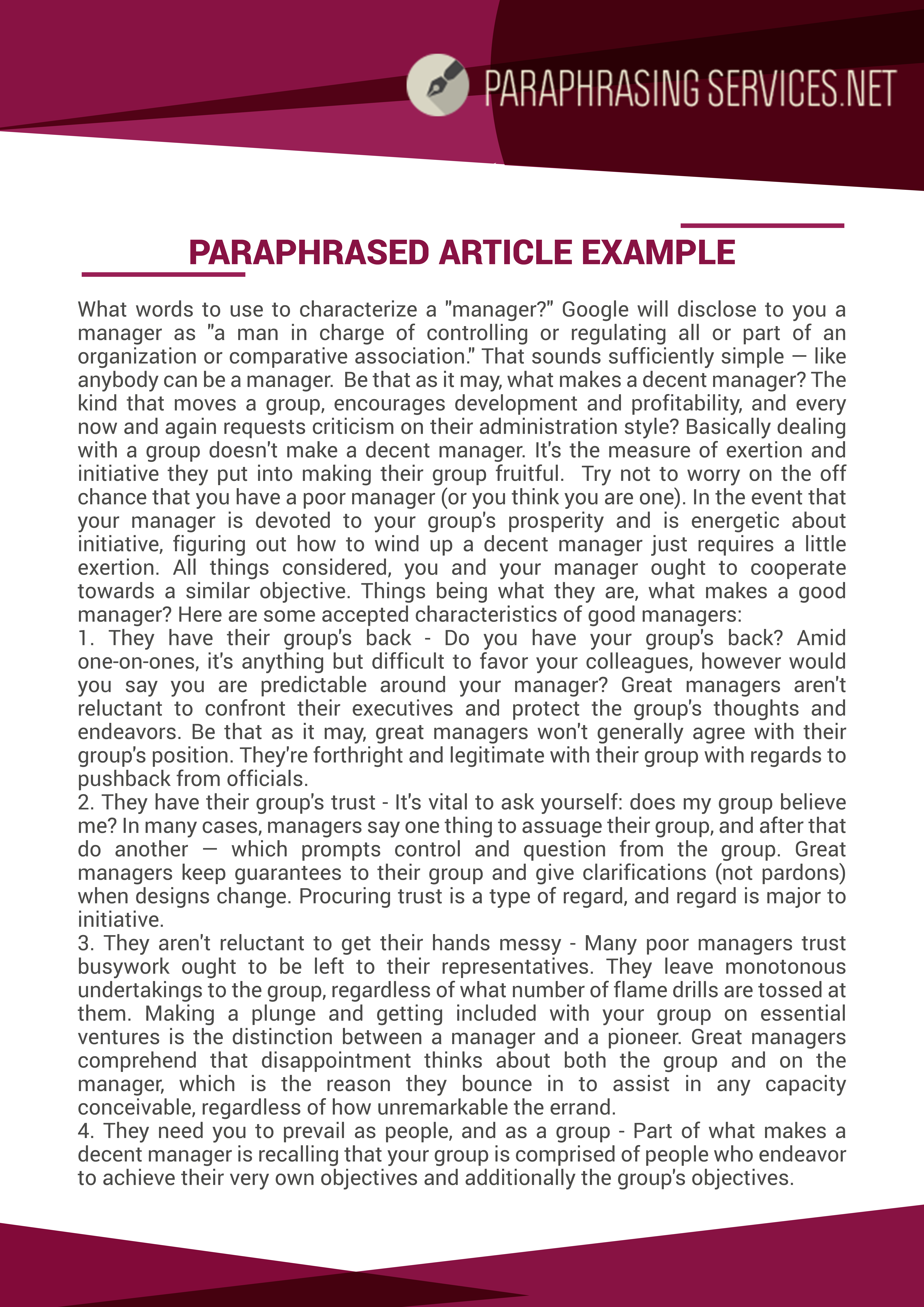 Learn How To Paraphrase An Article Example After By Clicking On Thi Link Http Www Paraphrasingservice Net Para Plagiarism Online Service
