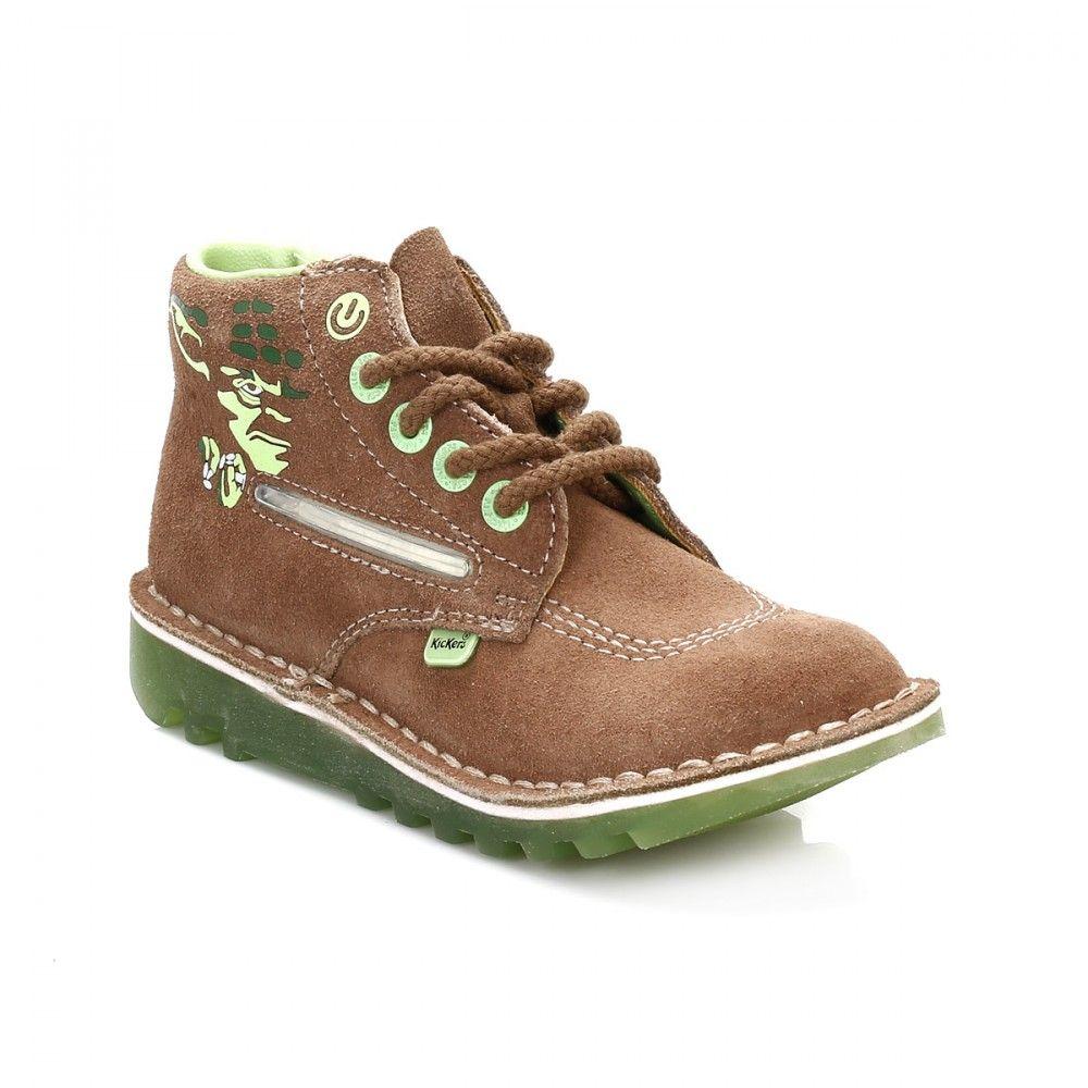 2bdfdeb17a03bb Kickers Star Wars Junior Light Brown Yoda Lightsaber Boots