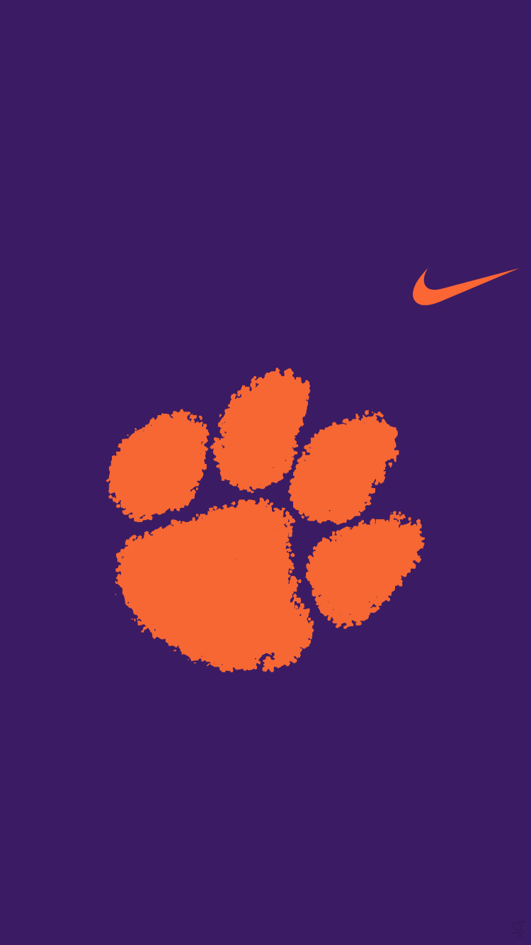 Clemson Tigers 02 Png 662155 750 1 334 Pixels Clemson Tigers Wallpaper Clemson Football Clemson Wallpaper