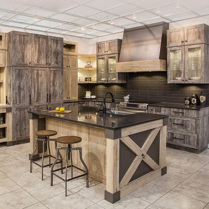 Bien-aimé awesome Idée relooking cuisine - Cuisine rustique chic en mélamine  IX52