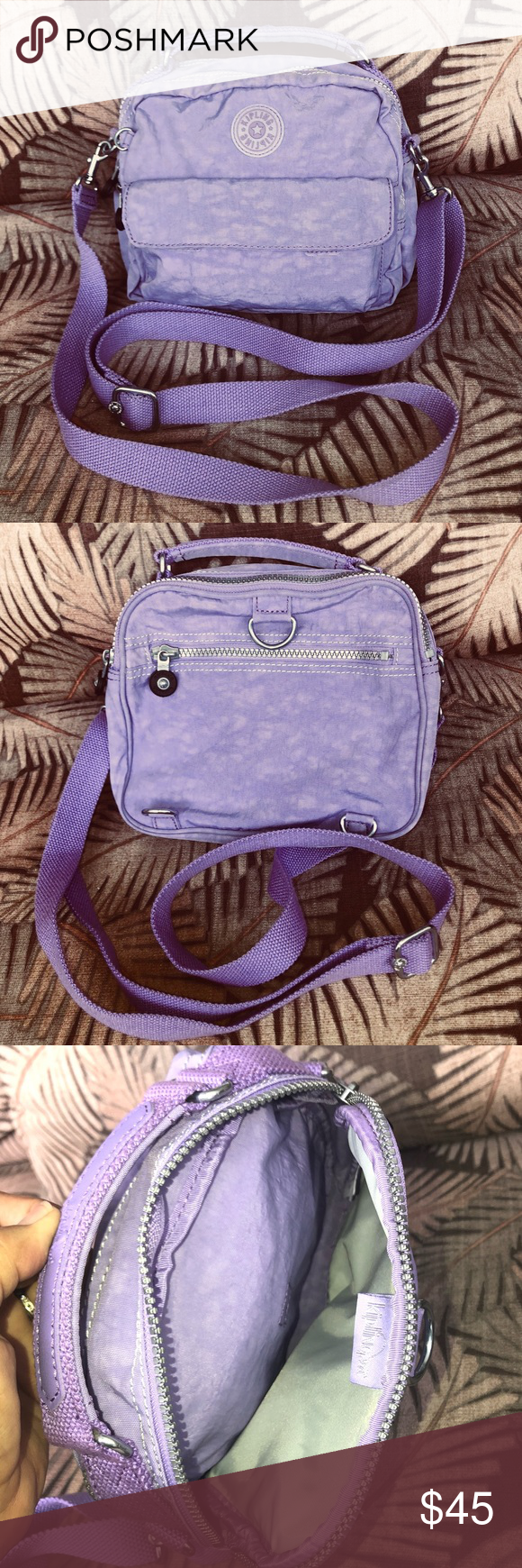 Kipling Candy Handbag Mini Backpack Euc Lavender My Posh Picks