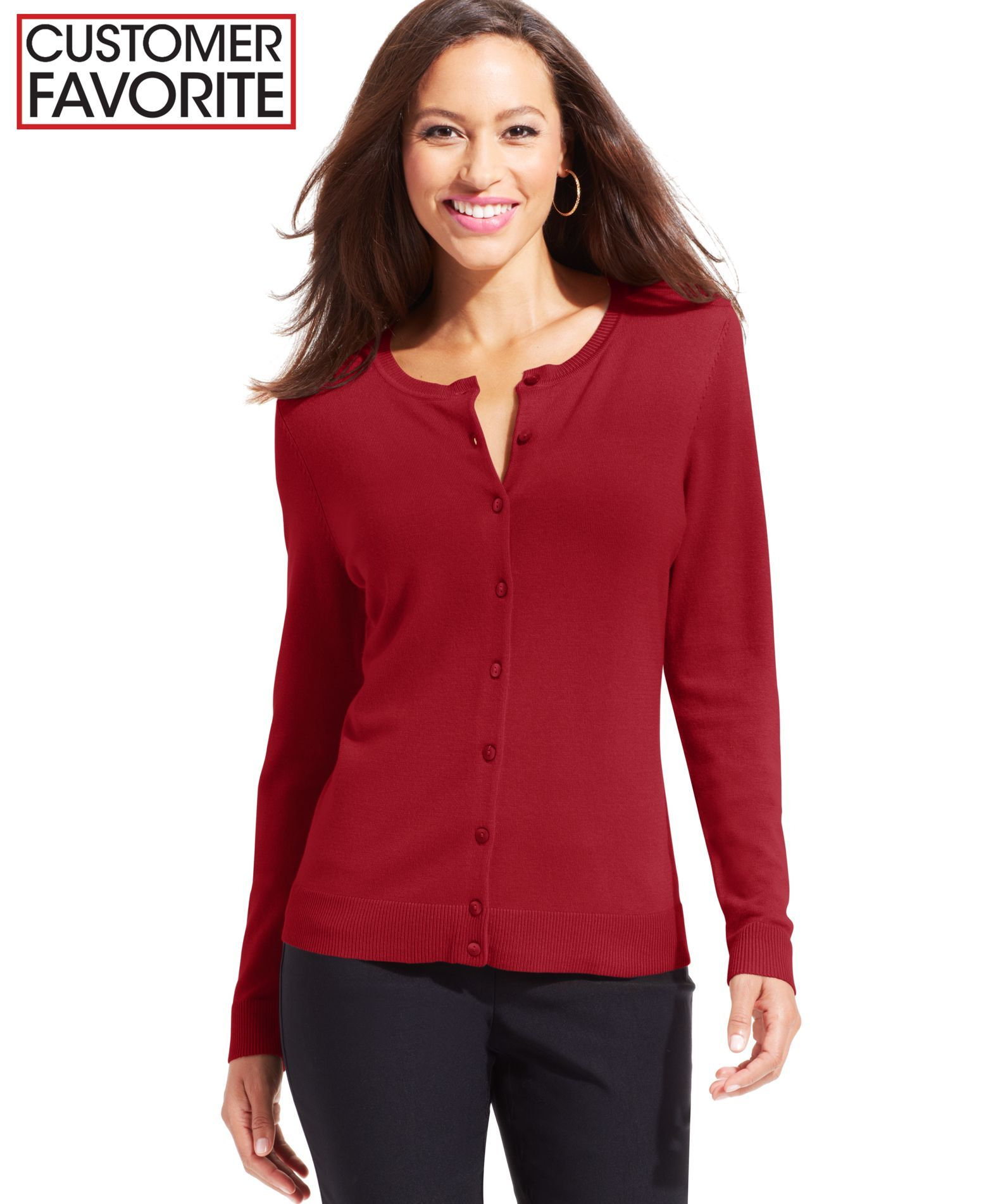 Charter Club Crew-Neck Cardigan, Only at Macy's | Shops, Cardigans ...