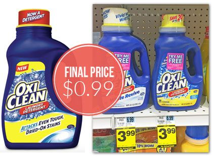 Oxiclean Laundry Detergent Only 0 99 At Rite Aid Laundry