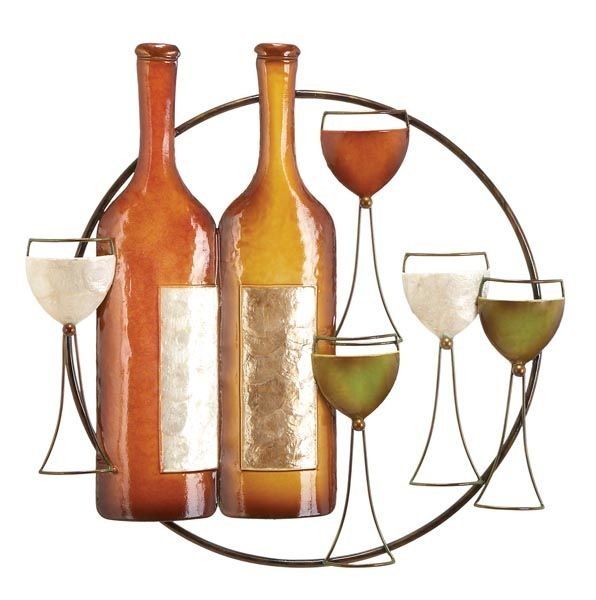 Pin By Jenny Steiner Bradshaw On For The Home Wine Bottle Metal Wall Art Decor Wine Wall