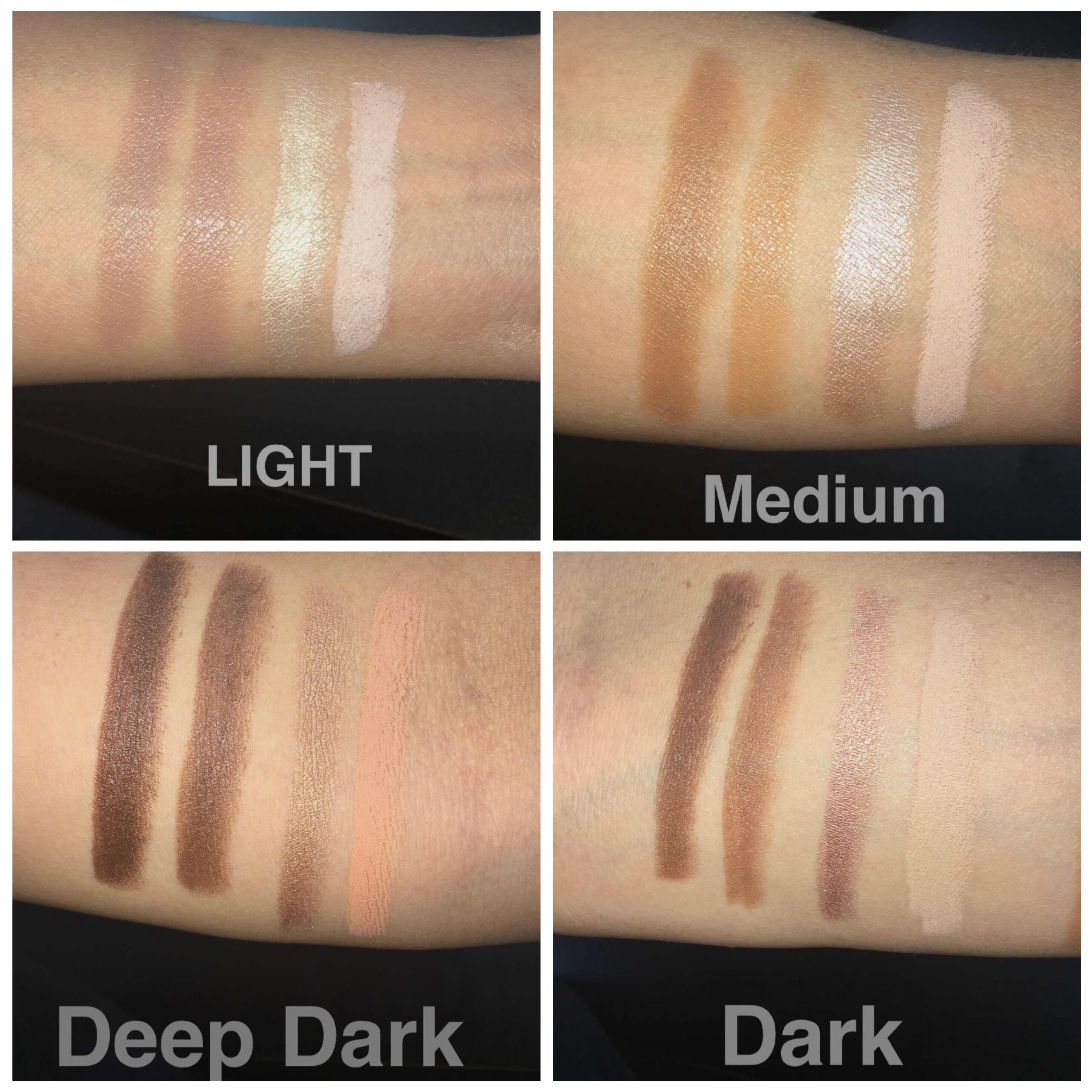 Kkw Highlight And Contour Kit Swatches The Light Is My Fave
