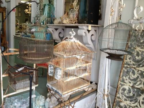All Shapes and Sizes of Vintage Bird Cages - $40
