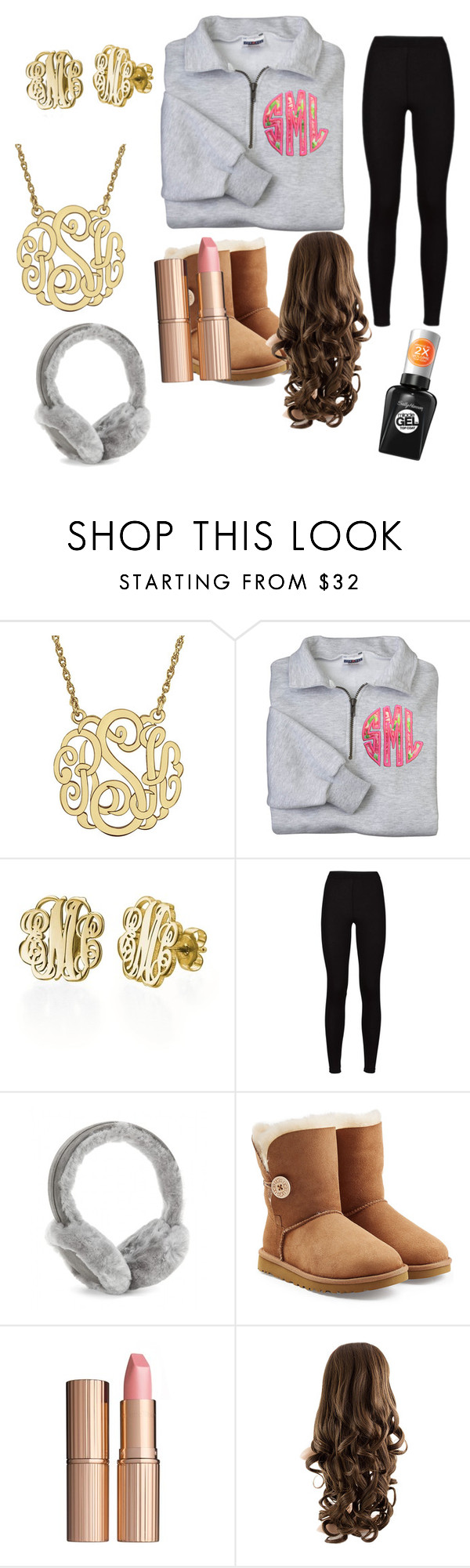 """""""Cold day"""" by libbyweitkamp ❤ liked on Polyvore featuring My Name Necklace, UGG Australia, Charlotte Tilbury and Sally Hansen"""