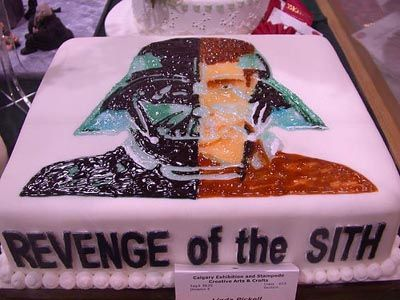 Revenge Of The Sith Cake Star Wars Cake Star Wars Awesome Star Wars Birthday