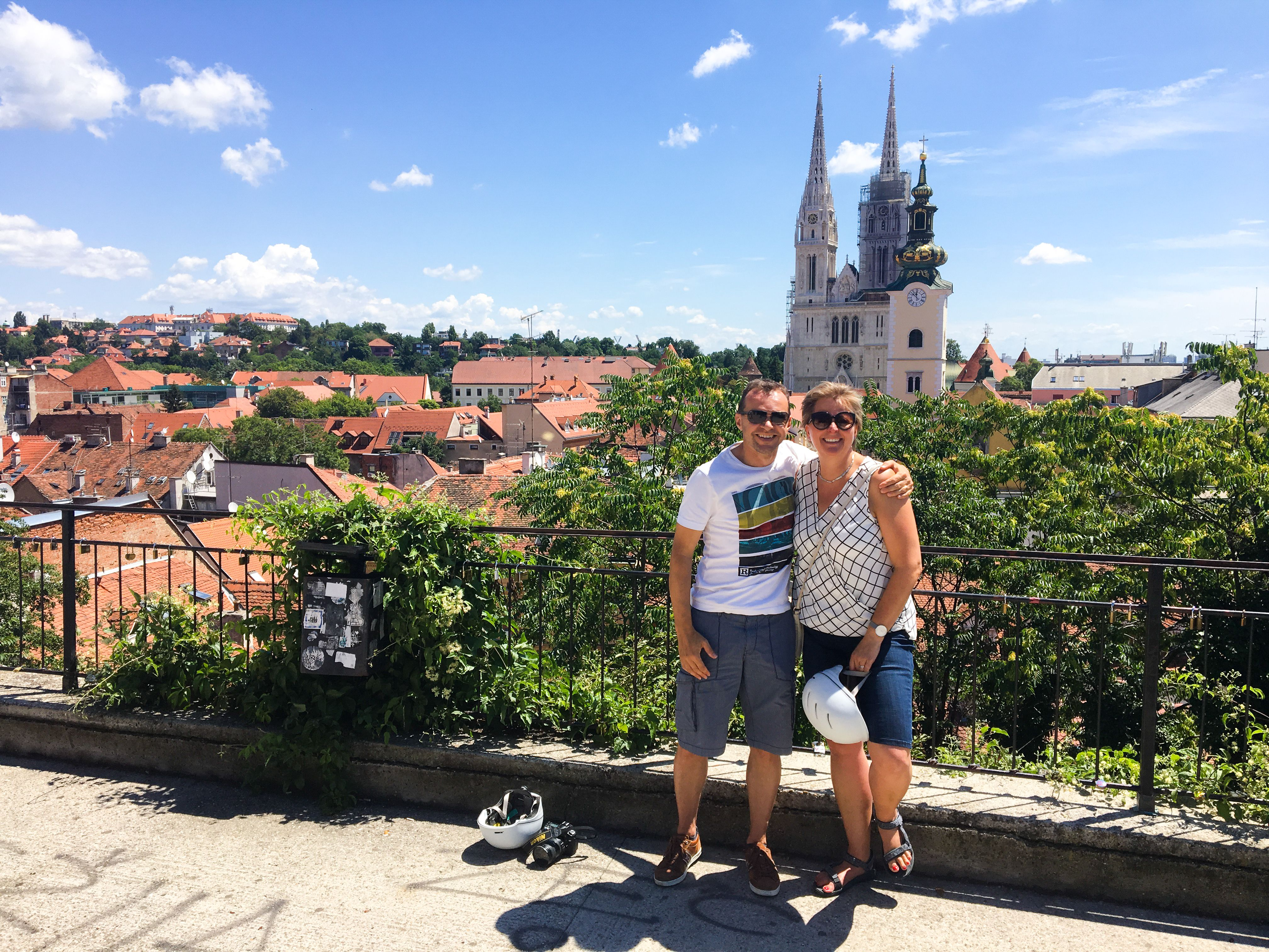 Zagreb Upper Town Has A Lot Of Spots With Nice View Upon The City One Of Those Is Plateau Gradec Lobagolabnb Zagreb Gradec Upper La Tours Bike Tour Zagreb