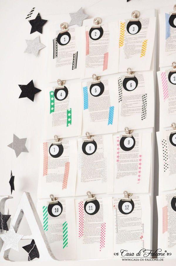 Adventskalender No18 I Advent calendar I Buchseiten & Masking Tapes I Casa di Falcone
