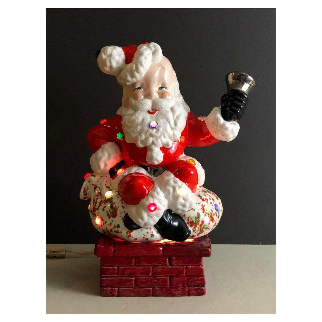 Vintage Ceramic Santa Claus Light Up Lighted Atlantic Mold Etsy Vintage Ceramic Light Up Ceramics