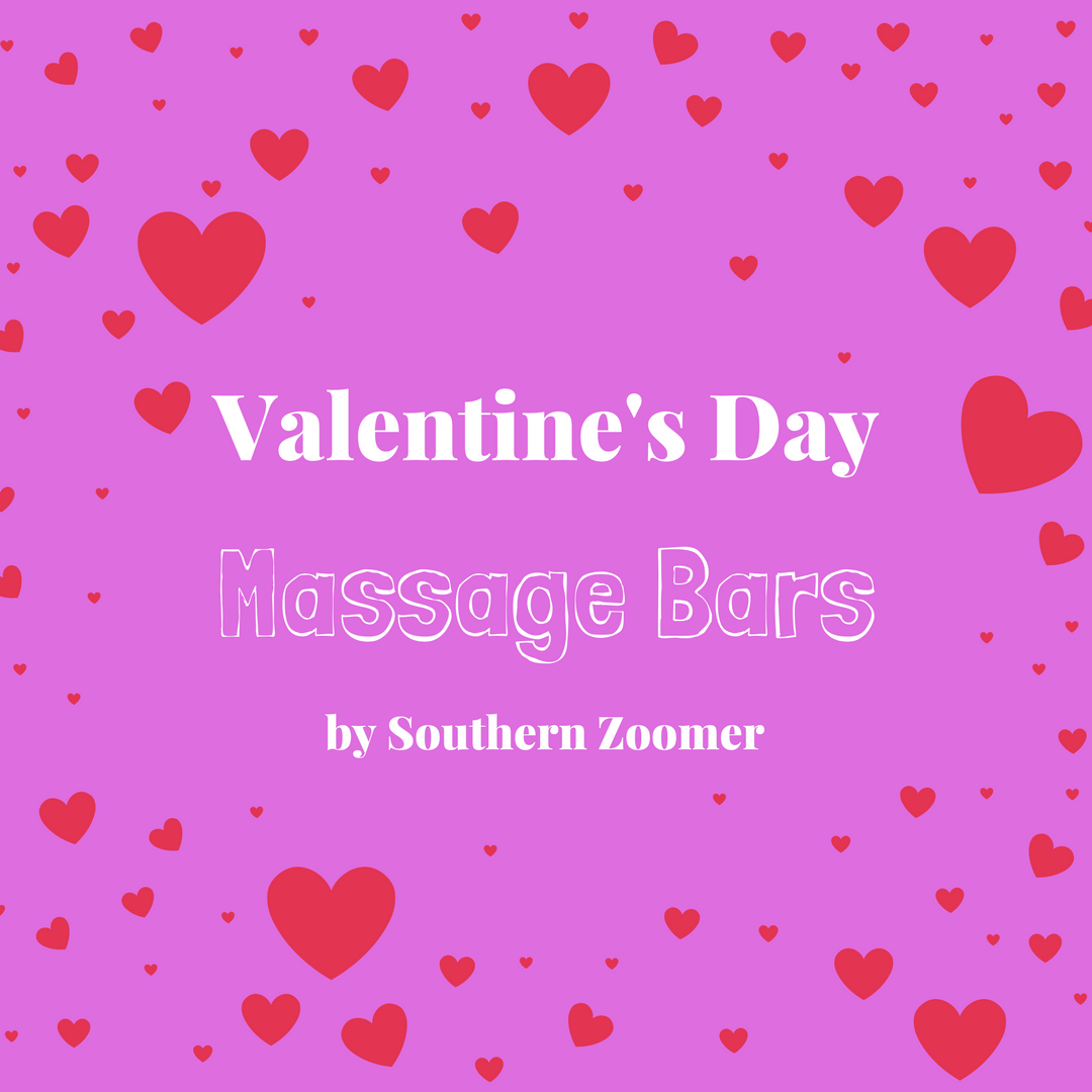 DIY Valentine's Day Massage Bars by Southern Zoomer
