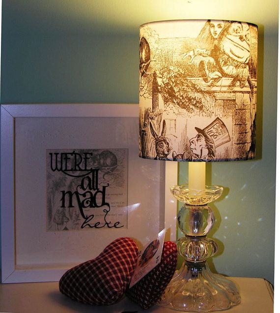 Alice in Wonderland - Curiouser and Curiouser - Lampshade / Light Fitting
