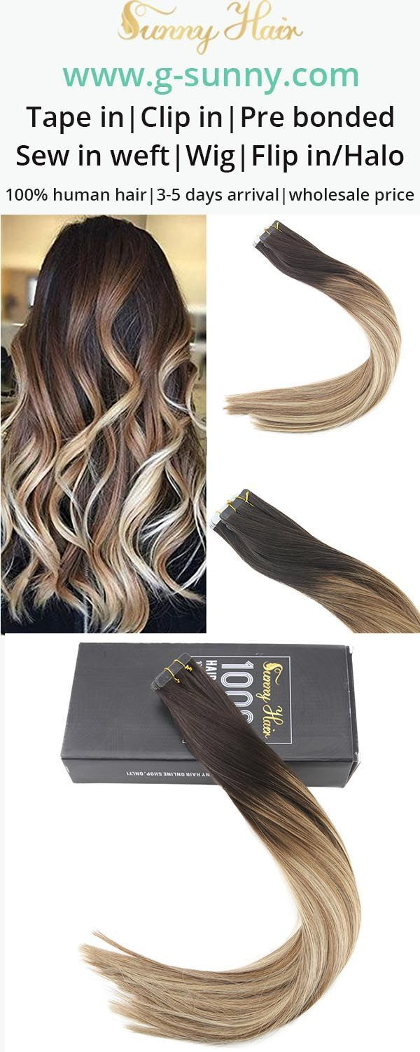 Sunny Hair 100 Remy Human Hair Tape In Human Hair Extensions Easy