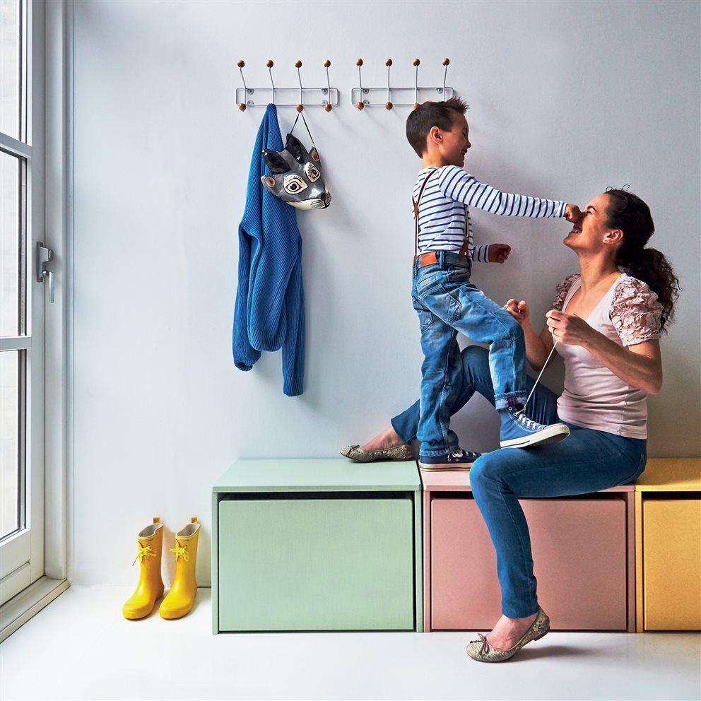 Opberg Bankje Wit.Flexa Kids Opbergbank 3 In 1 60x47 Cm Wit Opbergen Woonkamer