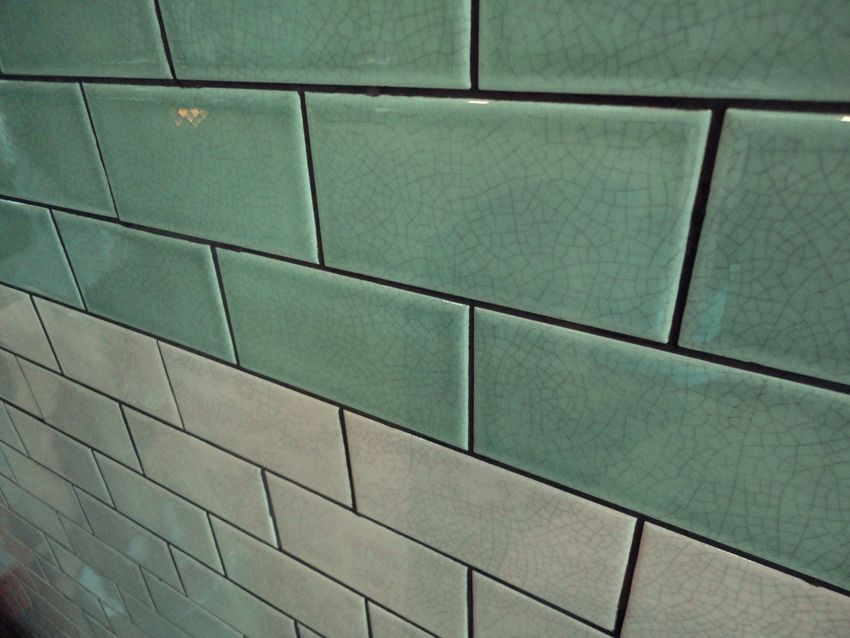 Mint Crackle Glaze Wall Tiles In Tinyrobot In Nottinghill
