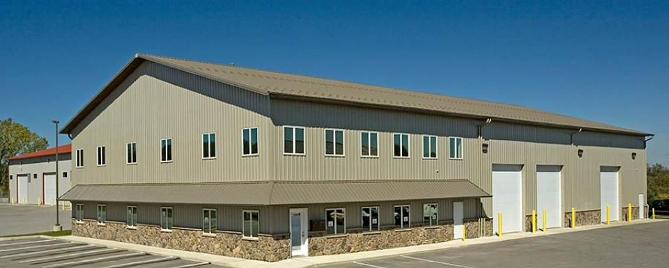 Industrial Park Metal Warehouse Post Frame Building Building A Pole Barn Built In Storage